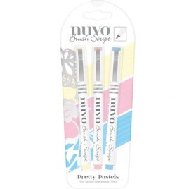 Lot de 3 feutres 'Nuvo - Brush Script' Pretty Pastels