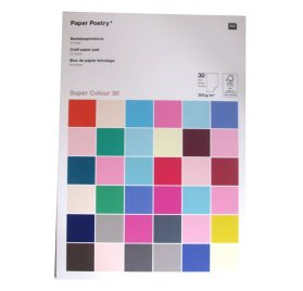 Assortiment A4 'Rico Design - Paper Poetry' Super Colour 300 gr/m² Qté 30
