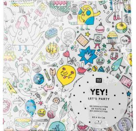 20 Serviettes 33x33 'Rico Design - Let's Party' Monster Party