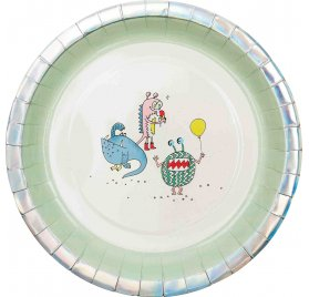 Assiettes en carton 'Rico Design - Let's Party' Monster Party 22.5 cm