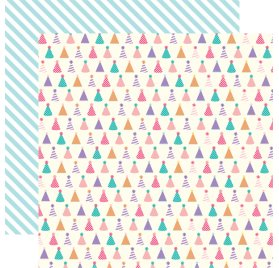 Papier double 30x30 'Echo Park Paper - Happy Birthday' Party Hats