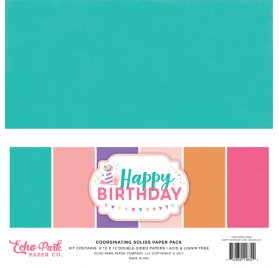 Assortiment 30x30 'Echo Park Paper - Happy Birthday'
