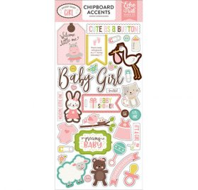 Chipboards 'Echo Park Paper - Sweet Baby girl'  Accents Qté 35