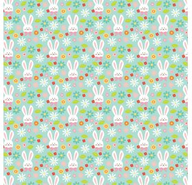 Papier double 30x30 'Echo Park Paper - Hello Easter' Hoppy Easter
