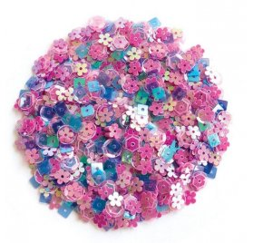 Sequins 'Hero Arts' Fleurs Pop Rose Mix