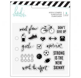 18 Tampons transparents 'Heidi Swapp - Memory Planner' Fresh Start Exercice