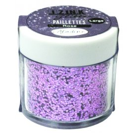 Paillettes 'Aladine - Izink Glitter' Rose 30 ml