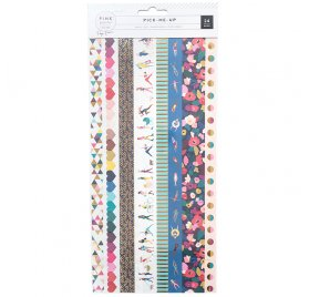 24 Autocollants Washi  'Pink Paislee - Pick Me Up'