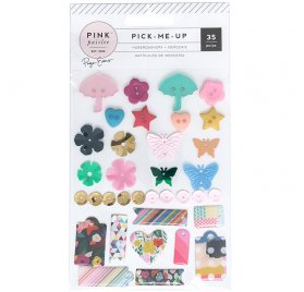 Kit de 35 embellissements 'Pink Paislee - Pick Me Up'