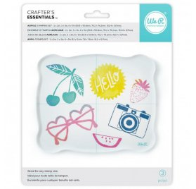 Set de 3 blocs acryliques 'We R Memory Keepers' 5.1x5.1 cm, 7.6x7.6 cm et 15.2x12.7 cm