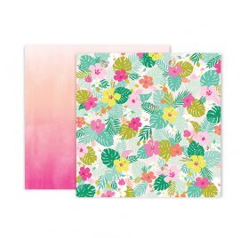 Papier double 30x30 'Pink Paislee - Confetti Wishes' 05