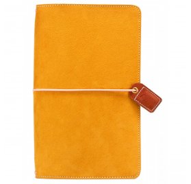Carnet de voyage 'Webster's Pages - Color Crush' Travelers Notebook Daim Moutarde