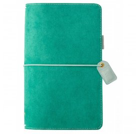 Carnet de voyage 'Webster's Pages - Color Crush' Travelers Notebook Daim Vert