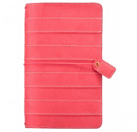 Carnet de voyage 'Webster's Pages - Color Crush' Travelers Notebook Rayé Rose