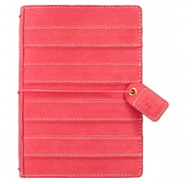 Mini carnet de voyage 'Webster's Pages - Color Crush' Travelers Notebook Daim Rayé Rose