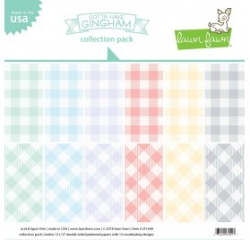 Assortiment de 12 papiers doubles 30x30 'Lawn Fawn - Gotta Have Gingham'