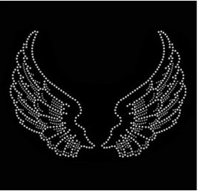 Strass thermocollant 'Ki-Sign' Ailes d'Anges 12.5x5 cm