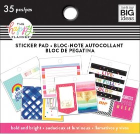 Petit bloc de 35 autocollants 'Me & My Big Ideas - The Happy Planner' Bold and Bright