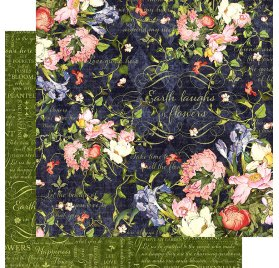 Papier double 30x30 'Graphic 45 - Floral Shoppe' Midnight Medley