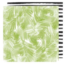 Papier double 30x30 'Heidi Swapp - Pineapple Crush' Palm Beach