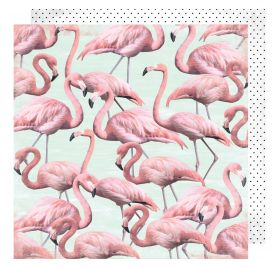 Papier double 30x30 'Heidi Swapp - Pineapple Crush' Flamingle