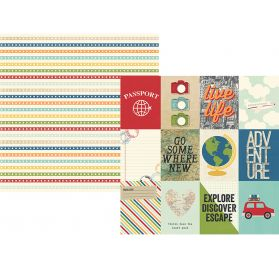 Papier double 30x30 'Simple Stories - Travel Notes' 3x4 Elements