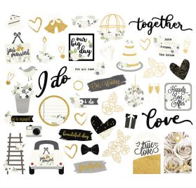 46 Die-cuts 'Simple Stories - Always & Forever' Ephemera Bits & Pieces