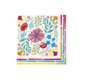 Lot de 20 serviettes en papier 33x33 cm 'Talking Tables - Boho Mix Floral'