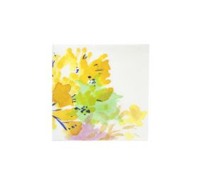 Lot de 20 serviettes en papier 25x25 cm 'Talking Tables - Fluorescent Floral' Floral