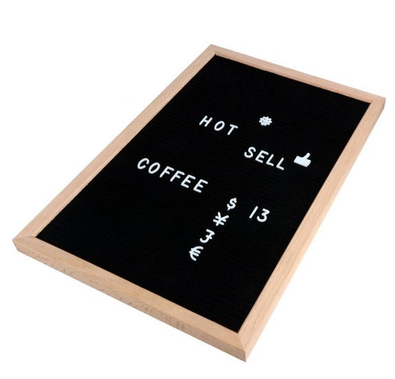 Letter Board' Rayher'  Rectangle noir 30X40 cm avec lettres blanches