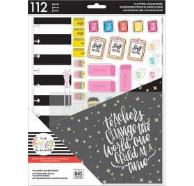 Lot de 112 accessoires pour grand organiseur pour enseignant 'Me & My Big Ideas - The Happy Planner' Teacher's Gonna Teach