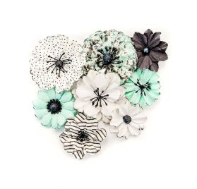 8 Fleurs 'Prima - Flirty Fleur' Grey and Mint