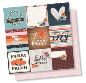 Papier double 30x30 'Simple Stories - Forever Fall' Give Thanks