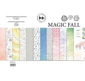 Assortiment de 6 papiers doubles 30x30 'Studio Forty - Magic Fall'