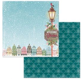 Papier double 30x30 'BoBunny - Christmas in the Village' Christmas in the Village