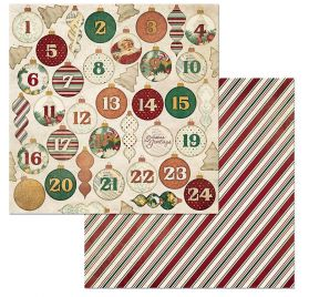 Papier double 30x30 'BoBunny - Yuletide Carol' Advent