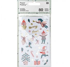 80 Autocollants 'Rico Design - Paper Poetry' Jolly Christmas Classic