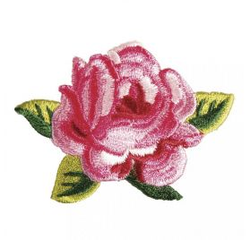 Ecusson thermocollant 'Rayher' Rose 6.3x5.4 cm