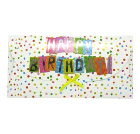 Pochette carte cadeau 'BSB' Happy Birthday 22 x 11 cm