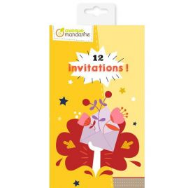 Kit  de 12 cartes d'invitations 'Avenue Mandarine'' Garden Party
