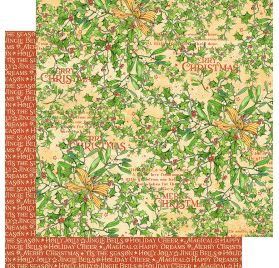 Papier double 30x30 'Graphic 45 - Christmas Magic' Happy Holly Days