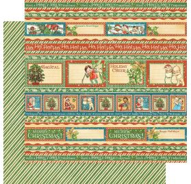 Papier double 30x30 'Graphic 45 - Christmas Magic' Gifting Gala