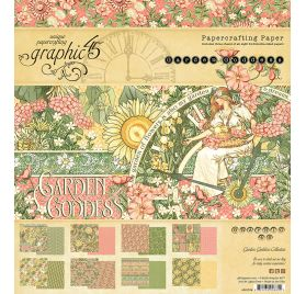 Assortiment de 24 papiers  doubles 20x20 'Graphic 45 - Garden Goddess'