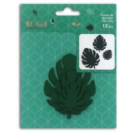 12 Die-cuts 'Toga - L'Or de Bombay' Philodendron vert
