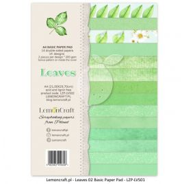 Assortiment de 14 papiers doubles A4  'Lemoncraft' Leaves 02