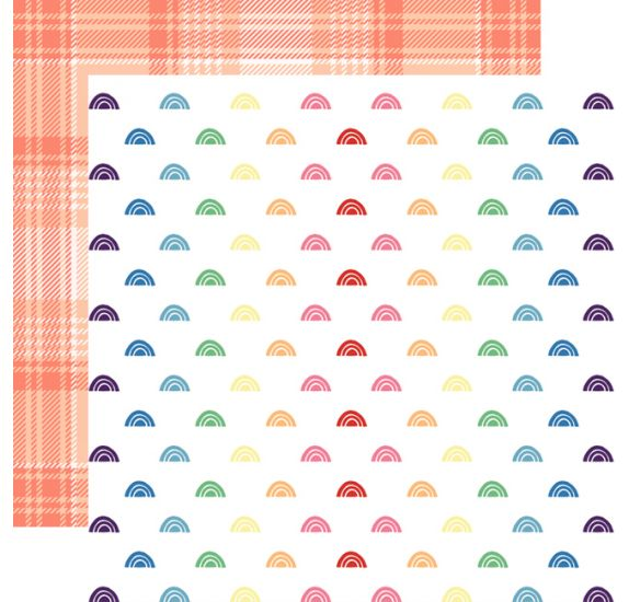 Papier double 30x30 'Webster's Pages - Love is in the air 'Rainbows