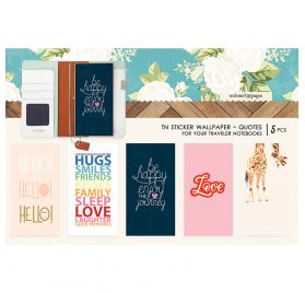 5 Autocollants pour couverture de carnet 'Webster's Pages' Quotes