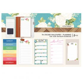 5 Autocollants pour couverture de carnet 'Webster's Pages' Planning