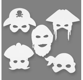 Lot de 16 masques à décorer 'Creativ Company' Pirates