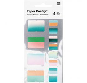 Autocollants 'Rico Design - Paper Poetry' Registres Verts
